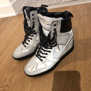 Nike wedge high top sneakers